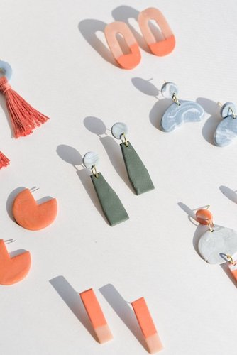 DIY Clay Earrings by Paper & Stitch