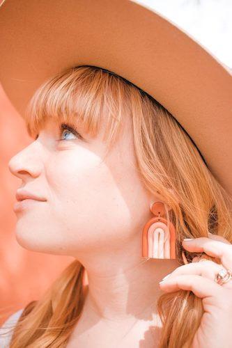 DIY Clay Rainbow Earrings by Mikyla Creates