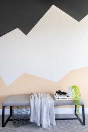 DIY Color Block Painted Accent Wall by Neatly Living