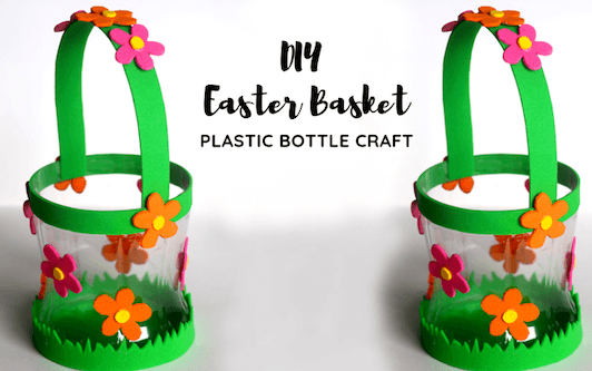 DIY Plastic Bottle Basket For Easter by The Little Crafties