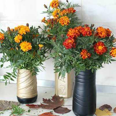 DIY Plastic Bottle Flower Vase by The Seaman Mom