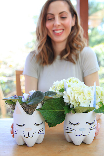 DIY Recycled Planters by Happily Eva After