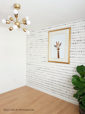 DIY Stamped Accent Wall by Remodelaholic