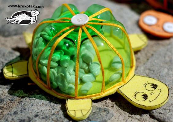 DIY Turtle Coin Banks by Krokotak