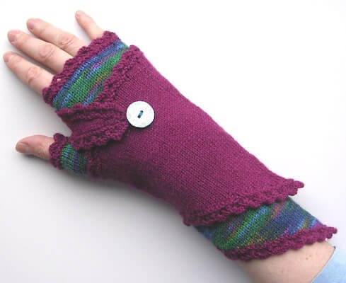 Fingerless Wraparound Gloves Knitting Pattern by Fingertips Patterns