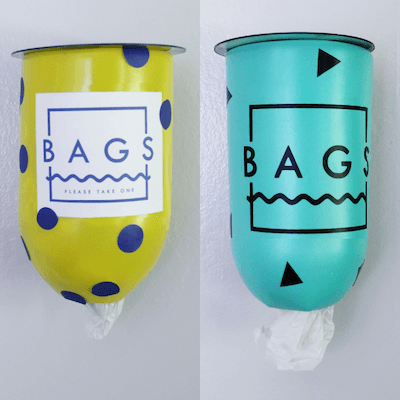 Geometric Plastic Bag Dispenser by Craft Your Happiness