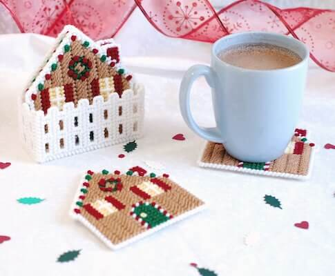 Gingerbread Coasters Plastic Canvas Pattern by Little Sapphire