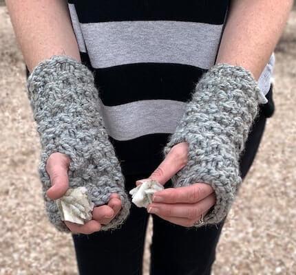 Granite Fingerless Gloves Knitting Pattern by Knit And Crochet Evr Aft