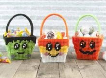 Halloween Mini Baskets Plastic Canvas Pattern by Fairy Penguin Crafts