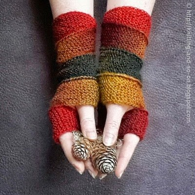 Helix Mitts Knitting Pattern by Knitting And So On