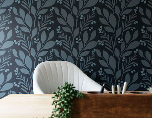 Home Office Accent Wall by Bloom In The Black