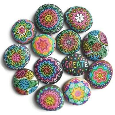 How To Paint Mandalas On Rocks by Color Made Happy