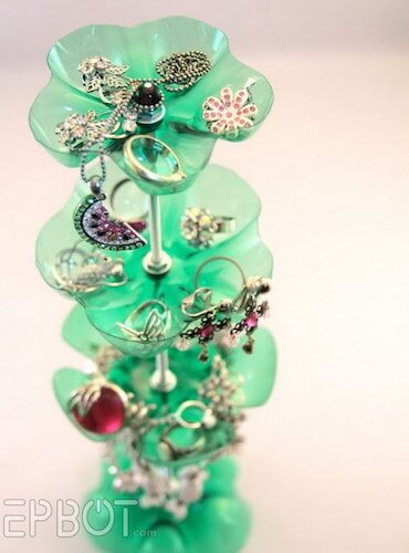 Jewelry Stand Out Of Plastic Bottles by Epbot