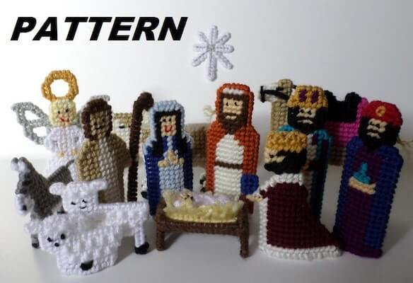 Nativity Set Plastic Canvas Pattern by Bucket Full Of Memories