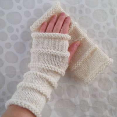 Oslo Fingerless Gloves Knitting Pattern by Romeo Romeo