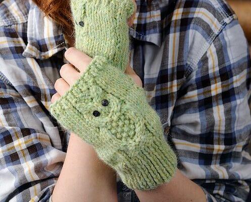 Owl Fingerless Gloves Knitting Patternby Gathered