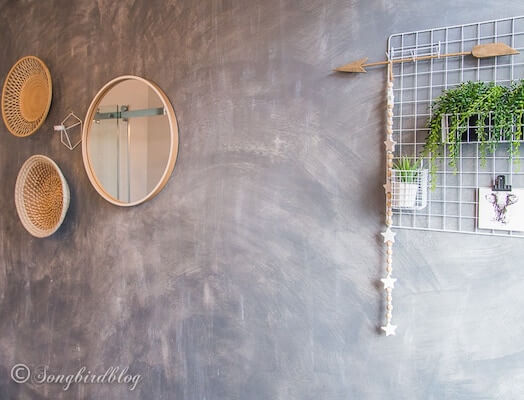 Painted Faux Concrete Wall by Songbird