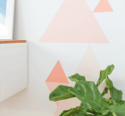 Painted Geometric Accent Wall by Sugar & Cloth