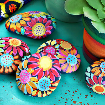 Painted Inspiration Stones by Mark Montano