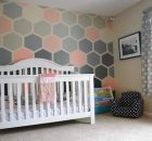 Painted Ombre Hexagon Accent Wall by The DIY Nuts
