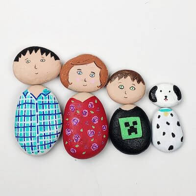Painted Rock People by Color Made Happy