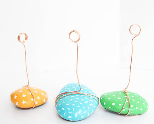 Painted Rock Photo Holders by One Little Project