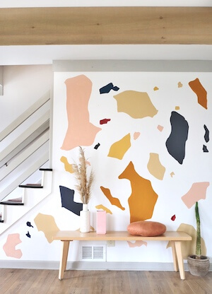 Painted Terrazzo Accent Wall by House On A Sugar Hill
