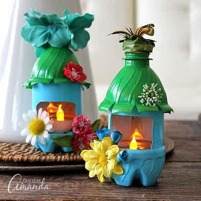 Plastic Bottle Fairy House Nightlights by Crafts By Amanda