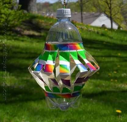 Plastic Bottle Wind Spinner by Crafts By Amanda