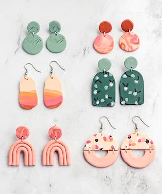 Polymer Clay Earrings DIY by Sarah Maker