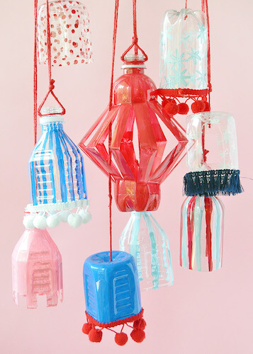 Recyclable Plastic Bottle Lanterns by Handmade Charlotte