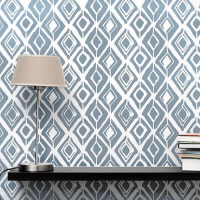Rough Diamond Wall Stencil by Stenciled Up