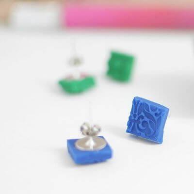 Textured Polymer Clay Earrings by Melissa Esplin
