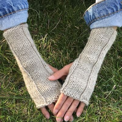 The Perfect Fingerless Gloves Knitting Pattern by Wild Leaf Design