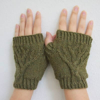 Tree Of Life Fingerless Gloves Knitting Pattern by Daydreamer Knits