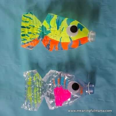 Water Bottle Fish Craft by Meaningful Mama