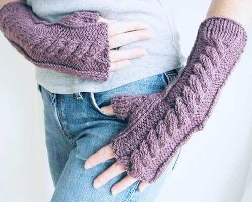 Weekend Fingerless Gloves Knitting Pattern by Hand Knitted Things