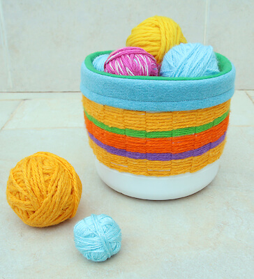 Woven Recycled Bleach Bottle Basket by Creative Jewish Mom