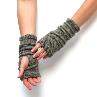 Wrap Fingerless Gloves Knitting Pattern by Amy LaRoux Pattern Shop