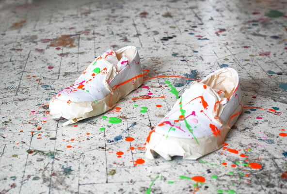 abstract design shoe painting