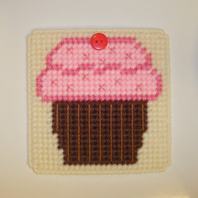 Cupcake Plastic Canvas Coaster Pattern by DIY'S Hooks And Yarns