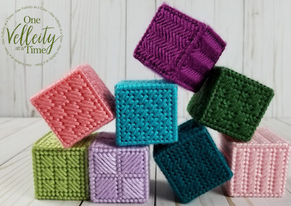 Easy Plastic Canvas Baby Blocks Pattern by One Velleity At A Time