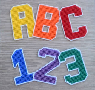 Plastic Canvas Alphabet And Numbers Pattern by Craft A Happy Home