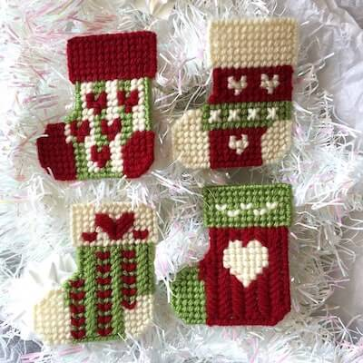 Plastic Canvas Christmas Stockings Pattern by Ready Set Sew By Evie