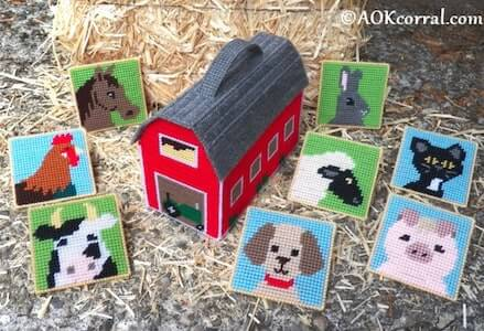 Plastic Canvas Farm Game Toy Pattern by AOK Corral