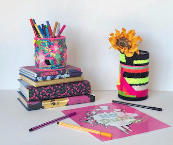 Plastic Canvas Pencil Holder Pattern by Lost Mom