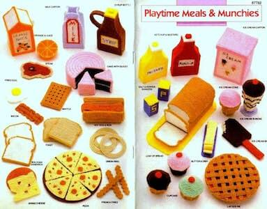 Plastic Canvas Toy Food Pattern by Toys Were Us Patterns