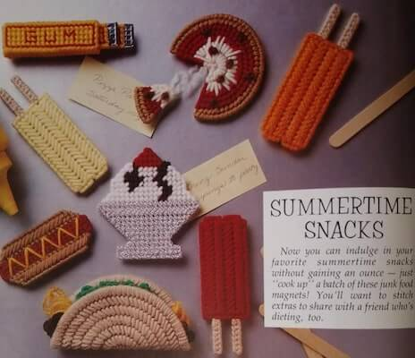 Summertime Snacks Plastic Canvas Pattern by Raindrops And Memories