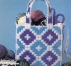 Tote Bag Plastic Canvas Pattern by Fairy Penguin Crafts