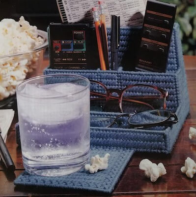 TV Watcher's Catchall Plastic Canvas Pattern by Raindrops And Memories